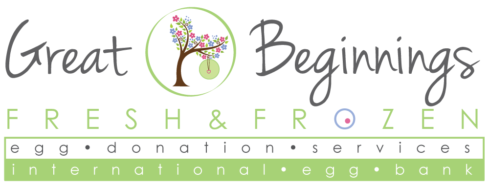 Great beginnings surrogacy - Fresh & Frozen Egg Bank Logo